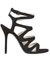 Michael by Michael Kors 100mm Swarovski On Suede Sandals - Lyst