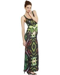 Tothem - Jersey Triple Cactus Printed Dress - Lyst