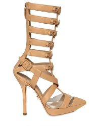 Versace 110mm Leather Gladiator Sandal Boots - Lyst