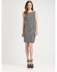 Alice + Olivia Sumie Sequin-Stripe Dress - Lyst