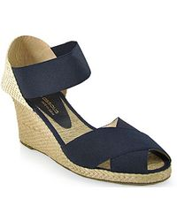 Andre Assous   Erika Elasticized Midwedge Espadrille in Navy   Lyst