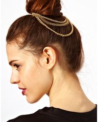 Asos Chain Bun Hair Combs - Lyst