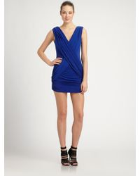 BCBGMAXAZRIA Alondra Dress blue - Lyst