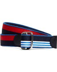 Brooks Brothers - Social Primer Nautical Colorblock Reversible Ribbon Belt - Lyst
