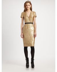 Burberry Sequined Dress - Lyst