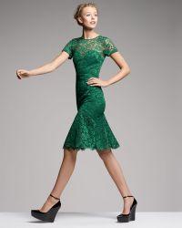 Burberry Prorsum - Cutoutback Lace Dress - Lyst