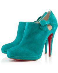 Christian Louboutin Bow Detail Ankle Boots - Lyst