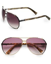 Dior Chicago 63Mm Aviator Sunglasses brown - Lyst