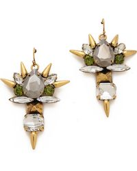 Fallon Jewelry Roswell Micro Spike Cluster Earrings - Lyst