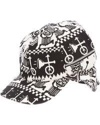 Henrik Vibskov Black Print Cap - Lyst