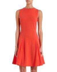 Kenzo Drop Waist Dress orange - Lyst