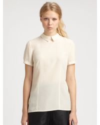Marc By Marc Jacobs Bowery Silk Crepe De Chine Blouse - Lyst