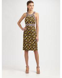 Milly Tribal Print Halter Dress - Lyst