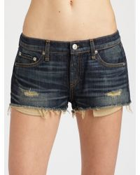 Rag & Bone Cut-Off Jean Shorts - Lyst