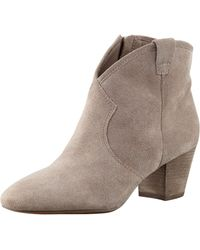 Ash Suede Lowheel Ankle Boot - Lyst