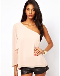 ASOS Collection   Asos Top with One Shoulder and Angel Sleeve   Lyst