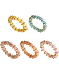 Asos Multipack Bead Stretch Rings - Lyst