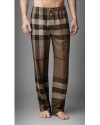 Burberry | Check Cotton Pyjama Trousers | Lyst