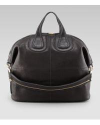 Givenchy Nightingale Zanzi Large Leather Bag Black - Lyst
