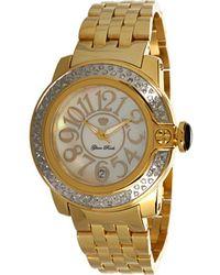Glam Rock - Lady Sobe 40mm Diamond Gold Plated Watch - Lyst