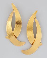 Herve Van Der Straeten - Virgules Crescent Drop Earrings - Lyst