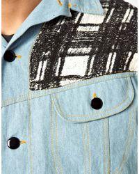 Horace - Flannel Denim Jacket - Lyst