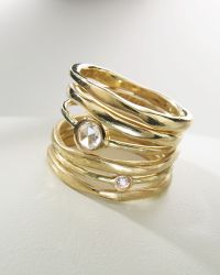 Ippolita - Stack Ring with Diamonds - Lyst