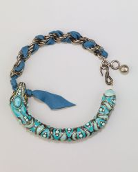 Lanvin Enamel Snake Choker Necklace Coral - Lyst