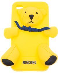 Moschino 'Gennarino' Iphone 4 Case yellow - Lyst
