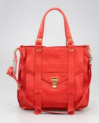 Proenza Schouler 1 Leather Tote Bag Bright Red - Lyst