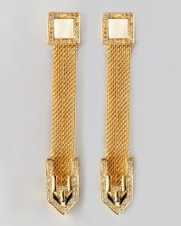 Rachel Zoe - Snake Chain Drop Earrings - Lyst