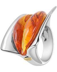 Masini - Vanita' - Amber Murano Glass Ring - Lyst
