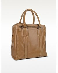 Buti Zippered Genuine Italian Leather Travel Tote Bag Lyst