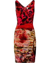 Erdem Gail Printed Velvet Dress - Lyst