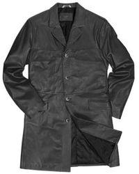 FORZIERI - Men's Black Italian Genuine Leather Coat - Lyst