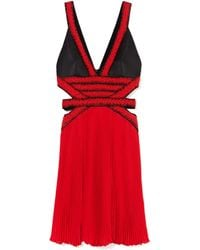 Jason Wu Combo Beaded Halter Pleated Hem Dress - Lyst