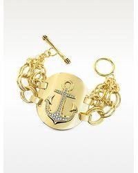 Juicy Couture - Double Chain Anchor Bracelet - Lyst