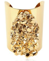 Michael by Michael Kors Gold Plated Rock Cuff - Lyst