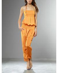 Patrizia Pepe Jumpsuit orange - Lyst