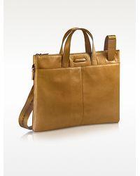 Piquadro Blue Square - Expandable Leather Business Bag - Lyst