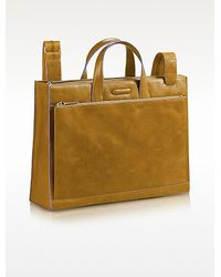 Piquadro Blue Square - Leather Business Bag - Lyst