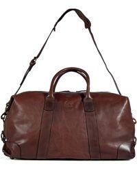 Ralph Lauren - Brown Leather Overnight Duffle Bag - Lyst
