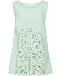 Reiss Catalina Laser Cut Top - Lyst