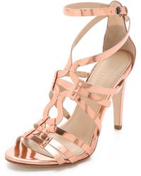 Vera Wang Haru Mirror Strappy Sandals - Lyst