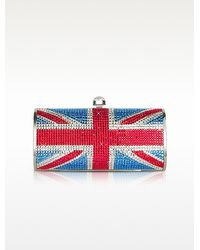 FORZIERI - Union Jack Flag Crystal Jewelled Clutch - Lyst
