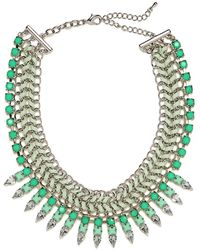 BaubleBar Mint Gem Braid Collar green - Lyst
