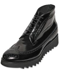 DSquared² - 40mm Brushed Leather Shark Show Boots - Lyst