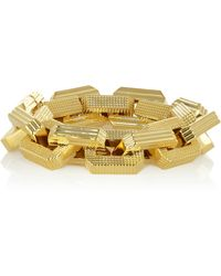 Eddie Borgo Large Supra Textured Gold Plated Chain Bracelet - Lyst