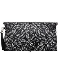 Gareth Pugh Large Leather Geometric Clutch Blackwhite - Lyst
