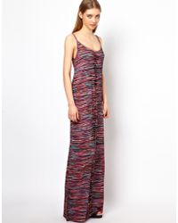 House of Holland Strappy Maxi Dress in Multi Print - Lyst